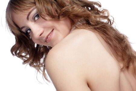 portrait of beautiful european girl posing photo