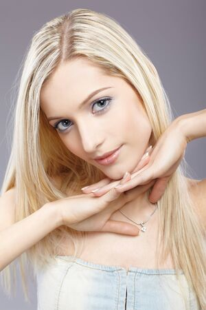 slavonic: portrait of beautiful slavonic blonde girl posing
