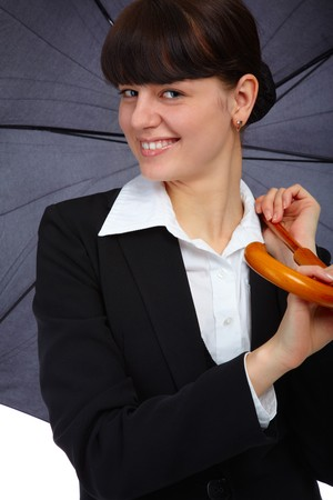 slavonic: portrait of pretty slavonic girl with umbrella