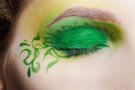 closeup of girl's eyezone fairy theme bodyart Stock Photo - 7468711