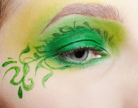 closeup of girl's eyezone fairy theme bodyart Stock Photo - 7468649
