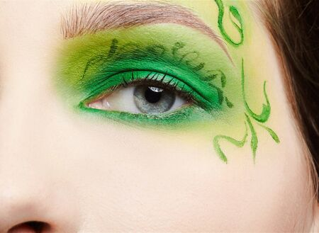 closeup of girl's eyezone fairy theme bodyart Stock Photo - 7468653
