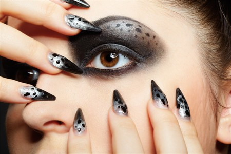 close-up portrait of girl's eye-zone bodyart Stock Photo - 7529835