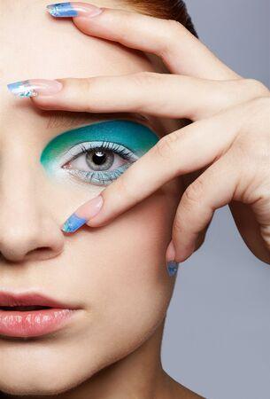 close up portrait of beautiful girl's make up Stock Photo - 7715751