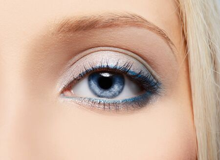 close-up portrait of beautiful girl's eye-zone make-up Stock Photo - 7767935