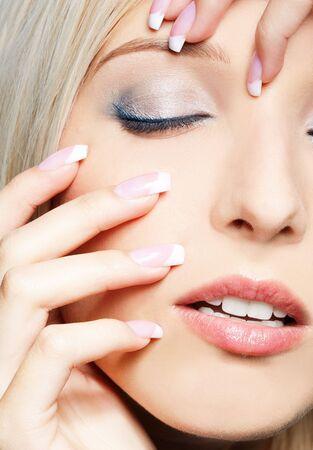 close-up portrait of beautiful girl's eye-zone make-up Stock Photo - 7767996