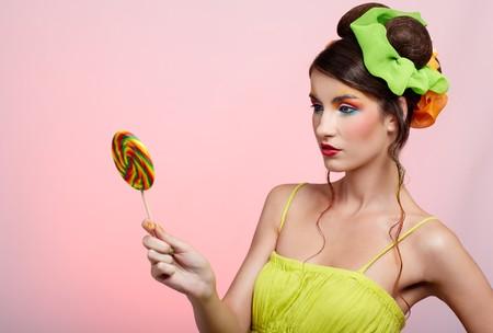 portrait of beautiful girl with big lollipop Stock Photo - 8147441