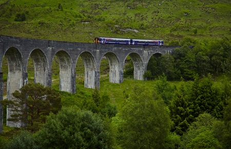 viaduct: View of Glenfinnan Viaduct, Scotland,  head of Loch Shiel  Stock Photo