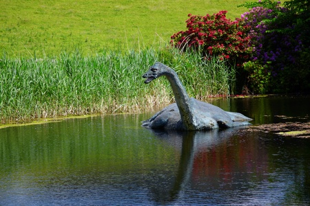 loch ness: Monster Nessi in Loch Ness waters,Scotland