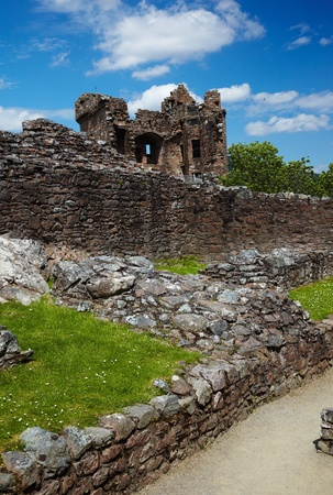 Ruins of Urquhart Castle near Loch Ness like photo