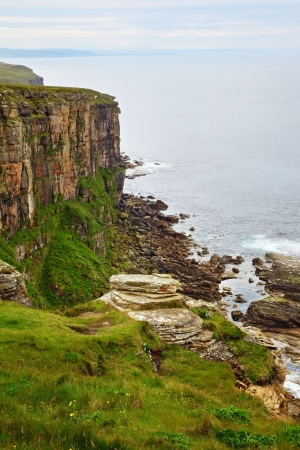 View on cliffs on North-East of Scotland Stock Photo - 9510144