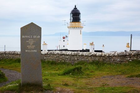 Lighthouse at Dunnet Head - the north point of scotland photo