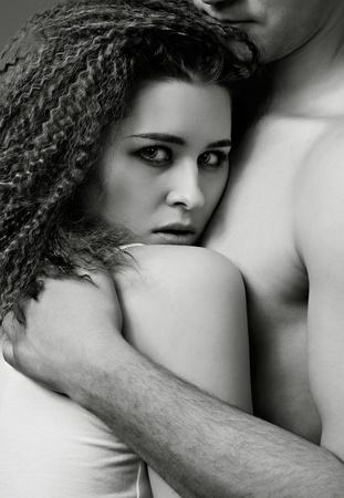portrait of young caucasian couple photo