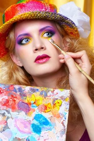 make up artist: artist Stock Photo
