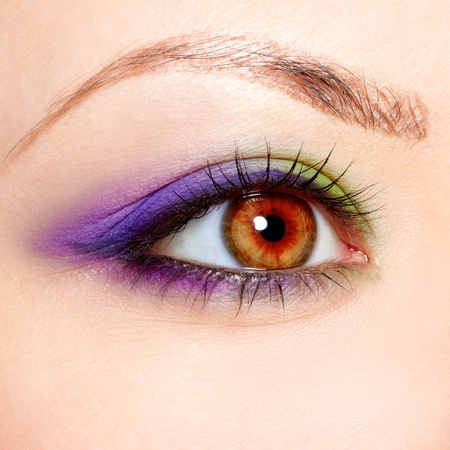 close-up portrait of beautiful girl's eye zone make up Stock Photo - 10328470