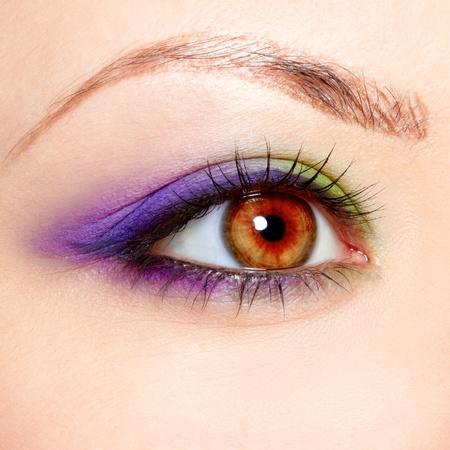 close-up portrait of beautiful girl's eye zone make up Stock Photo - 10328470