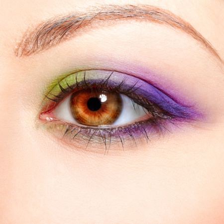 close-up portrait of beautiful girl's eye zone make up Stock Photo - 10328471