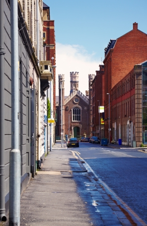 General street view in Belfast, Northern Ireland photo