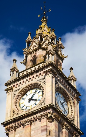 Belfast Clock  tower - Prince Albert Memorial Clock at Queens Square in Belfast, Northern Ireland photo