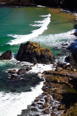 breaking wave: breaking wave in the sea , Nothern Ireland Stock Photo