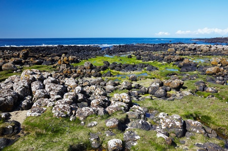 Giant's Causeway located in County Antrim on the northeast coast of Northern Ireland Stock Photo - 10634168