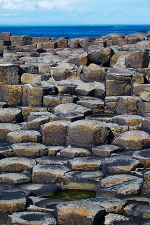 Giant's Causeway located in County Antrim on the northeast coast of Northern Ireland photo