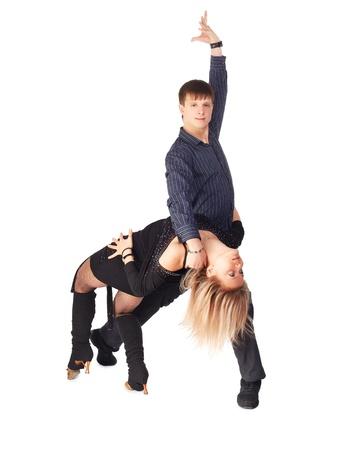 hustle: ritratto isolato di fretta coppia di ballo Archivio Fotografico