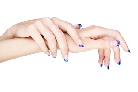nail salon: hands with woman