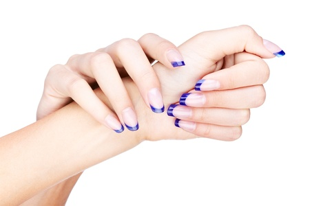 naildesign: hands with woman