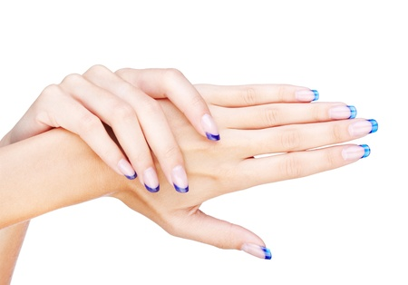 naildesign: Hands with woman Stock Photo