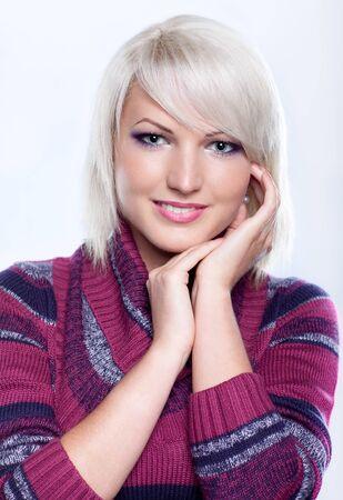 Portrait of a beautiful girl in woolen sweater Stock Photo - 11178693
