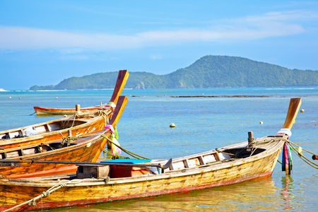 Fishing boats in Andaman sea, Thailand, Phuket photo
