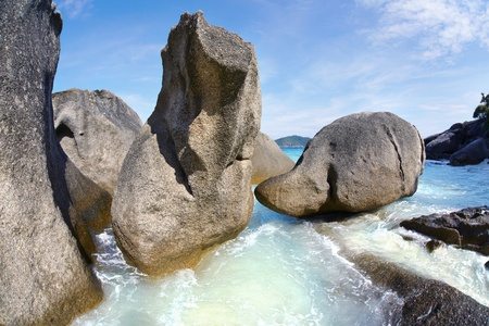 Boulders on the beach of Similan Islands, Koh Miang, National Park  photo