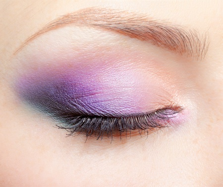 close-up portrait of young beautiful woman's eye zone make-up Stock Photo - 12341943