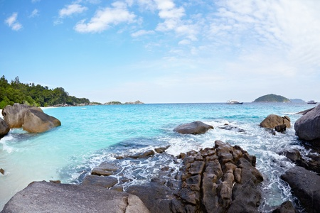 azure coast: Boulders on the beach of Similan Islands, Koh Miang, National Park