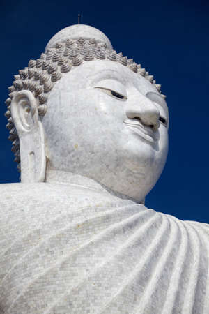 marmorate: The marble statue of Big Buddha in Phuket, view from below
