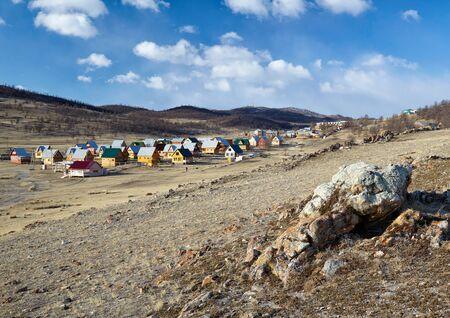 camping site: Camping site near lake Baikal in Siberia