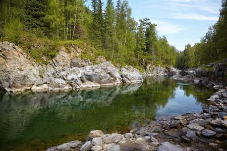 girlish: Girlish Reaches of mountain Altai river  Kumir