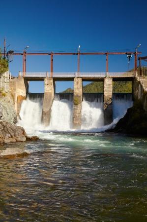 hydroelectric station: Mostra presso la centrale idroelettrica sul fiume Altai Chemal