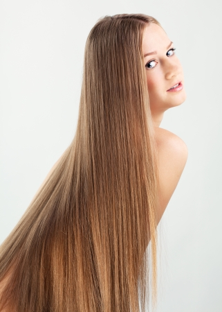 Portrait of beautiful young woman with long blond hair Stock Photo - 15719251