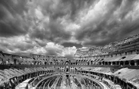 Colosseum the most well-known and remarkable landmark of Rome and Italy photo