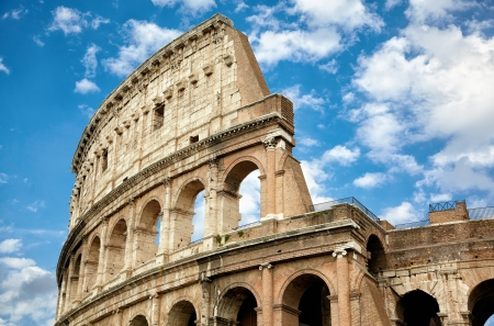rome italy: Colosseum the most well-known and remarkable landmark of Rome and Italy
