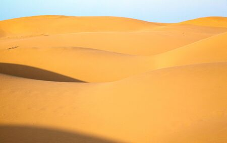 eolian: Sand dunes of desert Thar  in Rajasthan, India Stock Photo