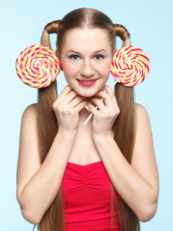 Funny portrait of young woman with sugarplum ears Stock Photo - 18208656