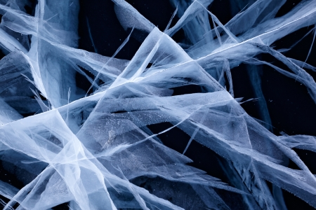 Texture of ice of Baikal lake in Siberia  photo