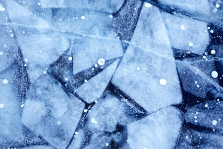 Texture of ice of Baikal lake in Siberia Stock Photo - 18932339