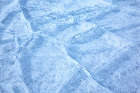 Texture of ice of Baikal lake in Siberia  photo