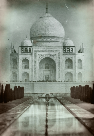 Taj Mahal in India  Old retro-styled film imagery with grain and scratches Stock Photo - 25179169