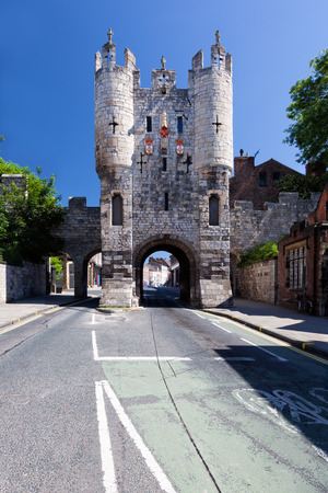 Micklegate Bar, The southern entrance to York, a city in North Yorkshire, England