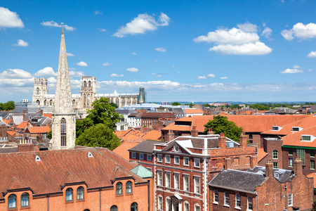 north yorkshire: Cityscape of York, a town in North Yorkshire, England